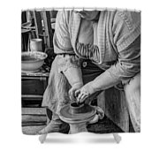 Potters Wheel V1 Shower Curtain