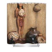 Pottery Vendor Shower Curtain