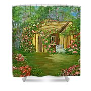 Potting Shed Shower Curtain