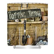 Potting Thyme Shower Curtain