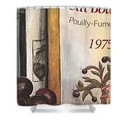 Pouilly Fume 1975 Shower Curtain by Debbie DeWitt