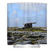 Poulnabrone Portal Tomb Shower Curtain