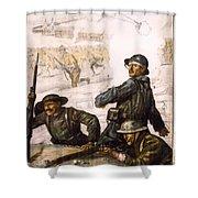 Pour La Victoire - W W 1 - 1918 Shower Curtain by Daniel Hagerman