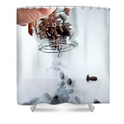 Pouring Out Pills Shower Curtain