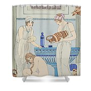 Pouring Water Over The Patient Shower Curtain by Joseph Kuhn-Regnier