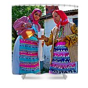Pouring Wine For Guests In Demircidere Koyu In Kozak-turkey Shower Curtain
