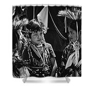 Pow-wow Buddies Shower Curtain