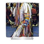 Pow Wow Dancer Shower Curtain