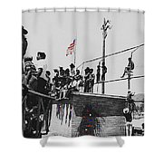 Pow Wow Days July 4th Rodeo Navajos Flagstaff Arizona 1969-2009  Shower Curtain