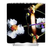 Powder Flower Shower Curtain
