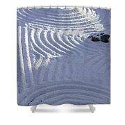 Powder In Zen Two Shower Curtain
