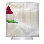 Powdered Sugar Shower Curtain