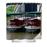 Powell Boats Shower Curtain