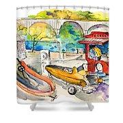 Power Boats World Championship In Barca De Alva 03 Shower Curtain