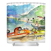 Power Boats World Championship In Barca De Alva 04 Shower Curtain