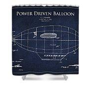 Power Driven Balloon Patent Shower Curtain