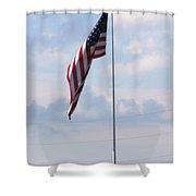 Power Flag Shower Curtain