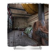 Power Generator Shower Curtain
