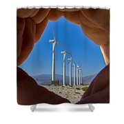 Power In The Hand Shower Curtain
