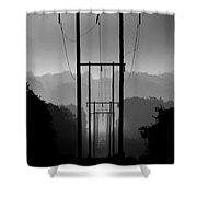Power In The Morning Mist Shower Curtain
