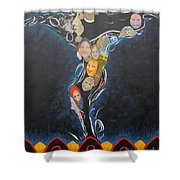 Power Of Man Shower Curtain