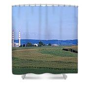 Power Plant Energy Shower Curtain