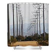 Power Poles  Shower Curtain