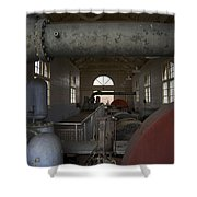 Power Production Shower Curtain