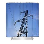 Power Pylon Shower Curtain