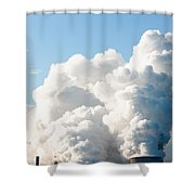 Power Station Plumes. Shower Curtain