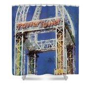 Power Tower Cedar Point Shower Curtain