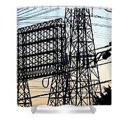 Power Tower Lines Shower Curtain