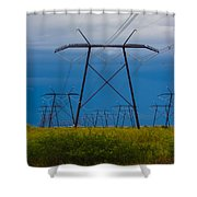 Power Towers Shower Curtain