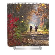 Power Walkers Shower Curtain