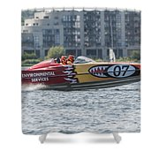 Powerboat 3 Shower Curtain