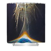 Powered By Light Shower Curtain