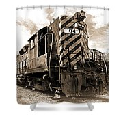 Powerful In Sepia Shower Curtain