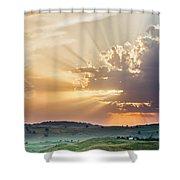 Powerful Sunbeams Shower Curtain