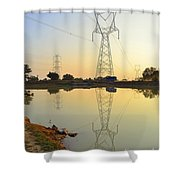 Powerline And Pylons Shower Curtain