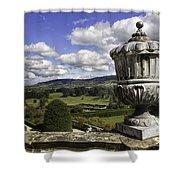Powis Castle Garden Urn Shower Curtain
