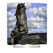 Powis Castle Statuary Shower Curtain