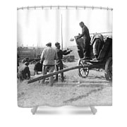 Pows Unload Cabbages For Lunch Shower Curtain