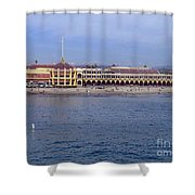 pr 119  The Boardwalk  Shower Curtain