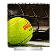 Practice - Tennis Ball By William Patrick And Sharon Cummings Shower Curtain