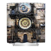 Prague Astronomical Clock Shower Curtain