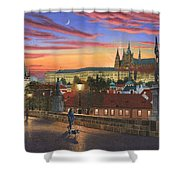 Prague At Dusk Shower Curtain