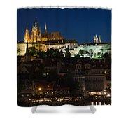 Prague  Castle At Night Shower Curtain