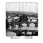 Prague Cityscape Shower Curtain