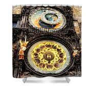 Prague Clock Orloj Shower Curtain