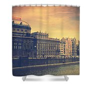 Prague Days Shower Curtain by Taylan Apukovska